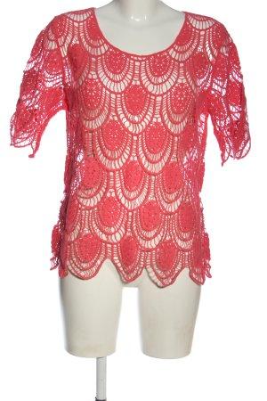 Pfeffinger T-shirts en mailles tricotées rose style extravagant