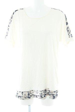 Pfeffinger T-Shirt creme-dunkelblau Farbverlauf Casual-Look