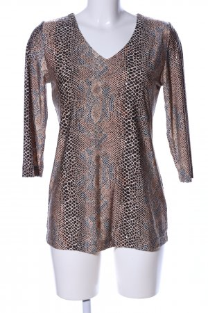 Pfeffinger V-Ausschnitt-Pullover Animalmuster extravaganter Stil