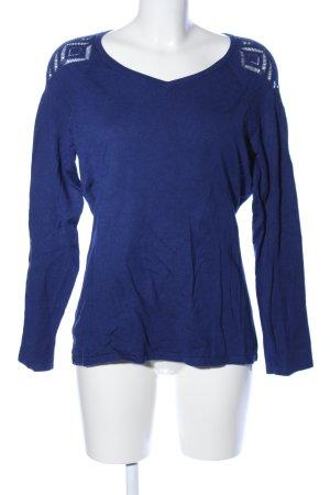 Pfeffinger V-Ausschnitt-Pullover blau Casual-Look