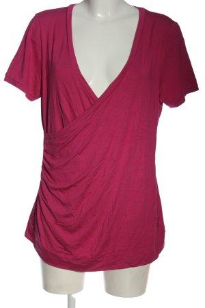 Pfeffinger T-shirt col en V rose style décontracté