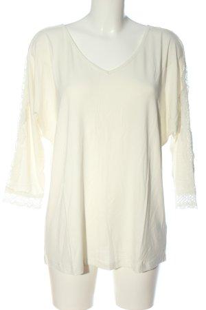 Pfeffinger V-Ausschnitt-Shirt wollweiß Casual-Look