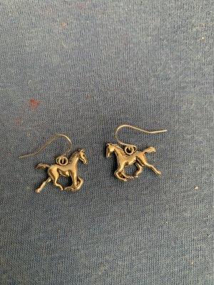 Handmade Zdobione kolczyki jasnoszary-srebrny