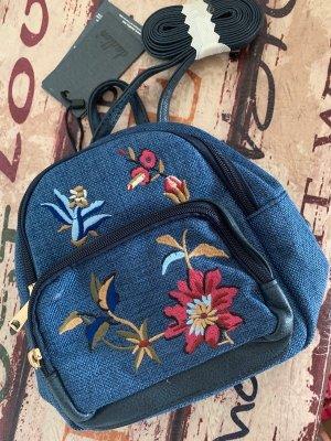Pfiffig! Kleiner Stoff-Rucksack! - Blue/Color - Stickereien