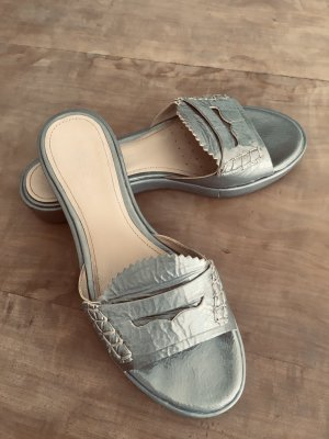 Geox Sabots grey-silver-colored leather