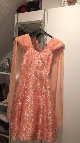 New Fast Sukienka z rękawem balonowym brzoskwiniowy