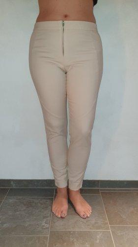Spodnie rurki jasnobeżowy-kremowy Elastan