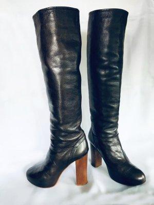 Chloé Botte à plateforme brun foncé-brun cuir