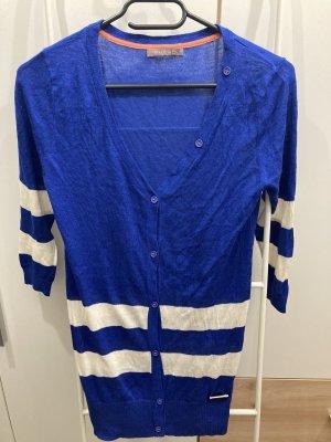 Phard Giacca in maglia blu-bianco