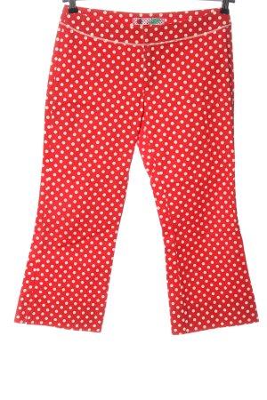 Phard 3/4 Length Trousers red-white spot pattern elegant