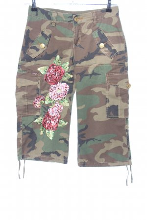 Phard Capris camouflage pattern casual look