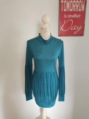 Phard Sukienka z wycięciem niebieski neonowy Wiskoza