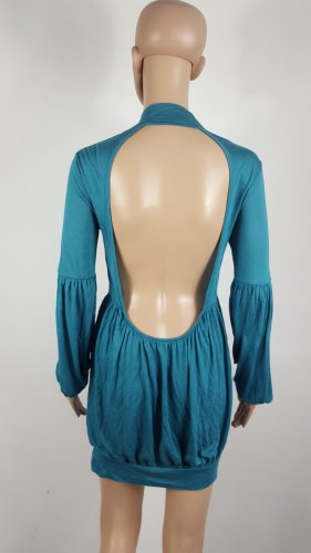 Phard Babydoll Dress neon blue viscose