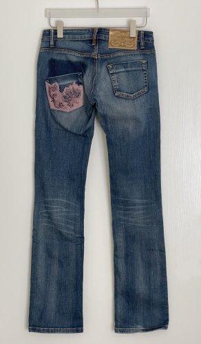 Phard Jeans a gamba dritta blu Cotone