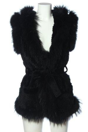 Phard Biker vest zwart casual uitstraling