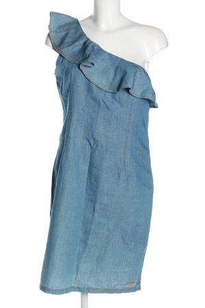 Phard One-Shoulder-Kleid blau meliert Casual-Look