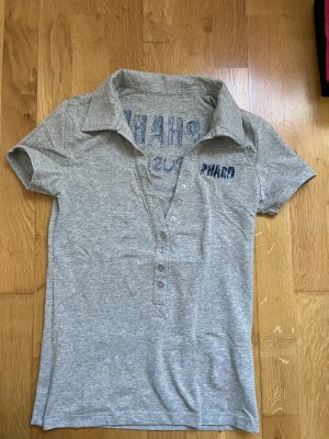 Phard Polo argento-blu Cotone