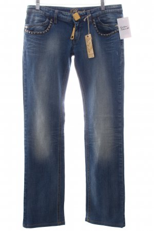 Phard Straight-Leg Jeans hellblau-wollweiß Washed-Optik
