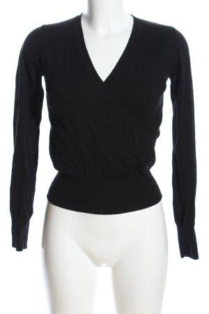 Phard V-Ausschnitt-Pullover schwarz Casual-Look