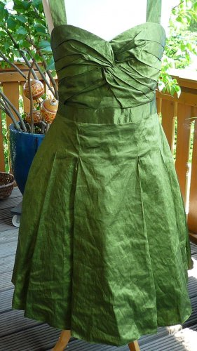 Phase eight Petticoat Dress olive green polyester