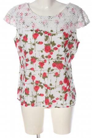 Phase eight Kurzarm-Bluse Allover-Druck Casual-Look