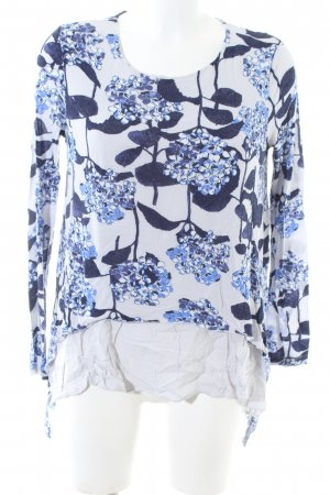 Phase eight Longsleeve blau-weiß Blumenmuster Casual-Look