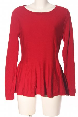 Phase eight Rundhalspullover rot Casual-Look