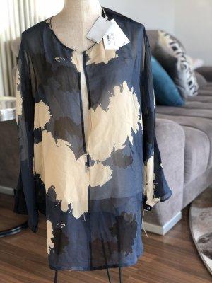 3.1 Phillip Lim Zijden blouse donkerblauw-beige