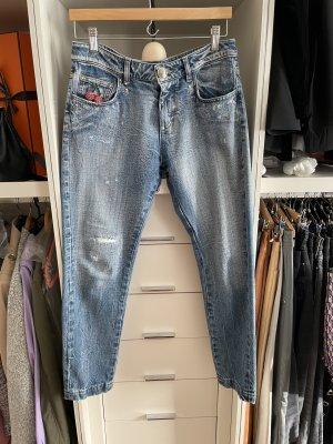 Philipp Plein Boyfriend Jeans blue