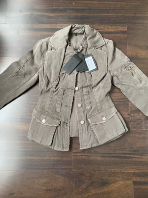 Philipp Plein Military Jacket green grey cotton