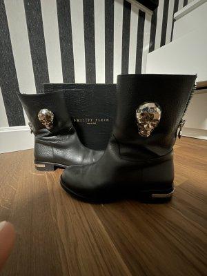 Philipp Plein Halfhoge laarzen zwart