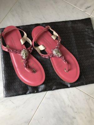 Phillip Plein Sandalo toe-post rosa-rosa