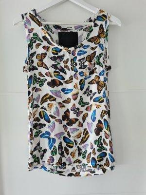 Philipp Plein Silk Top multicolored silk