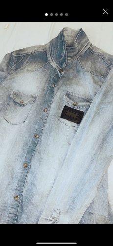 Philipp Plein Chemise en jean multicolore