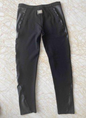Philipp Plein Faux Leather Trousers black viscose