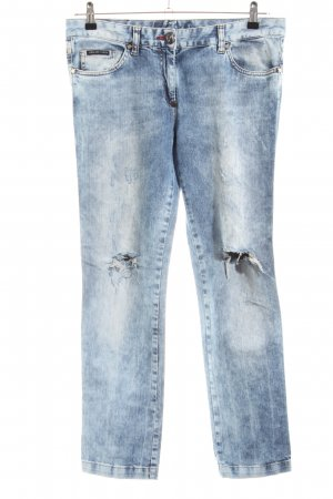 Philipp Plein Low Rise Jeans blue casual look