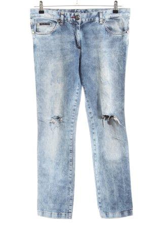 Philipp Plein Jeans vita bassa blu stile casual