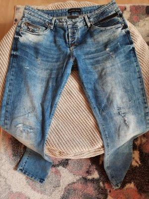 Philipp Plein Jeans vita bassa blu