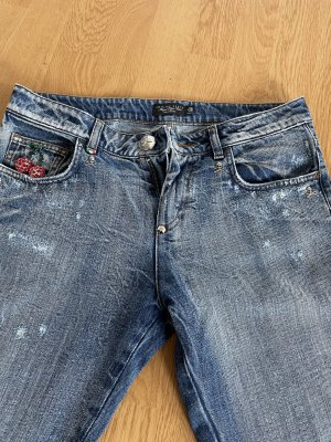 Philipp Plein 7/8 Length Jeans azure