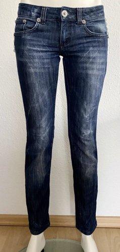 Philipp Plein Jeans Gr. 28 5-Pocket blau skinny Logo