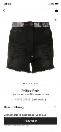 Philipp Plein Jeans-Short