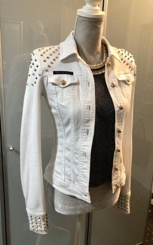 Philipp Plein Denim Jacket white-gold-colored