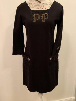 Philipp Plein Robe crayon noir-doré