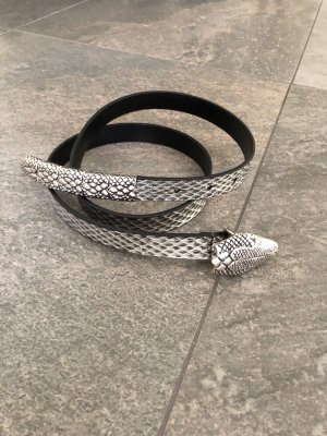 Philipp Plein Cinturón de cuero color plata Cuero