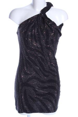 Philipp Plein Pailettenkleid schwarz-silberfarben abstraktes Muster Elegant