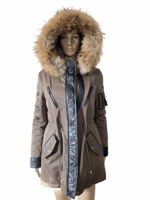 Philipp Plein Winter Coat black-light brown pelt