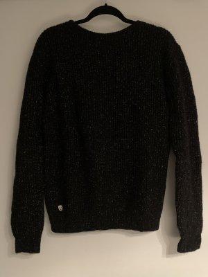 Philipp Plein Knitted Sweater black-light grey alpaca wool