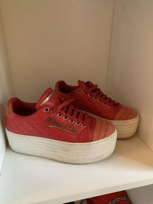 Philipp Plein Heel Sneakers red