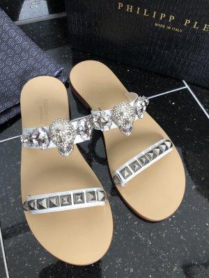 Philipp Plein Dianette Sandals white-silver-colored