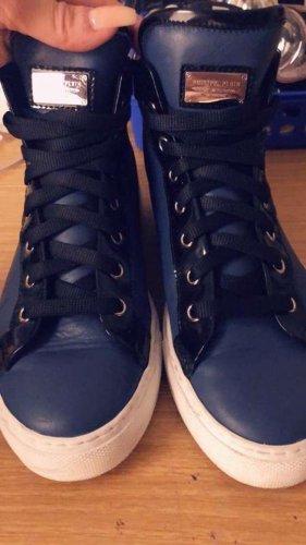 Philipp Plein Sneaker alta nero-blu scuro